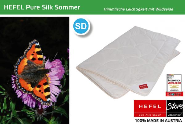 Hefel - Pure Silk - Naturfaser. Ganzjahres: Sommer - Single. Hefel Bio-Bettwaren, Decken, Polster, Unterbetten und Bettwäsche von Vitalschlaf: Ihre individuelle & vitale Schlafwelt aus Österreich.