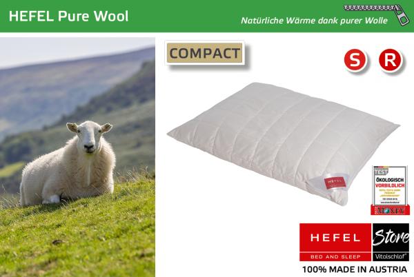 Hefel - Naturhaar - Pure Wool - SCHAFWOLLE - Größe: 40x40 Reißverschluß: Ja ; Füllgewicht : 280 ; Füllgewicht 2 : n.v.. Hefel Bio-Bettwaren, Decken, Polster, Unterbetten und Bettwäsche von Vitalschlaf: Ihre individuelle & vitale Schlafwelt aus Österreich