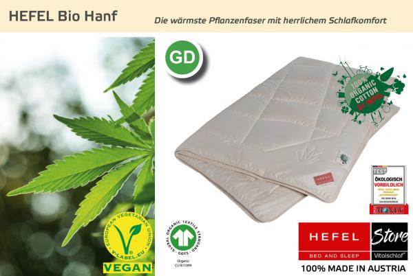 Hefel - Bio Hanf - Naturfaser. Ganzjahres: Ganzjahres - Single. Hefel Bio-Bettwaren, Decken, Polster, Unterbetten und Bettwäsche von Vitalschlaf: Ihre individuelle & vitale Schlafwelt aus Österreich.