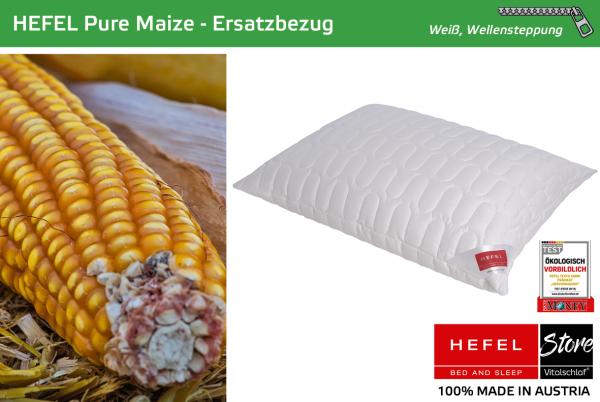Hefel - Naturfaser - Pure Maize Hülle - MAIS & PES - Größe: 40x40 Reißverschluß: Ja ; Füllgewicht : - ; Füllgewicht 2 : n.v.. Hefel Bio-Bettwaren, Decken, Polster, Unterbetten und Bettwäsche von Vitalschlaf: Ihre individuelle & vitale Schlafwelt aus Öste