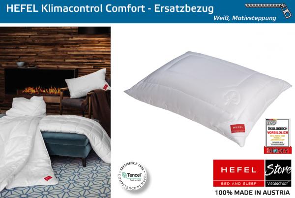 Hefel - Naturfaser - Klimacontrol Comfort Hülle - TENCEL & PES - Größe: 40x40 Reißverschluß: Ja ; Füllgewicht : - ; Füllgewicht 2 : n.v.. Hefel Bio-Bettwaren, Decken, Polster, Unterbetten und Bettwäsche von Vitalschlaf: Ihre individuelle & vitale Schlafw