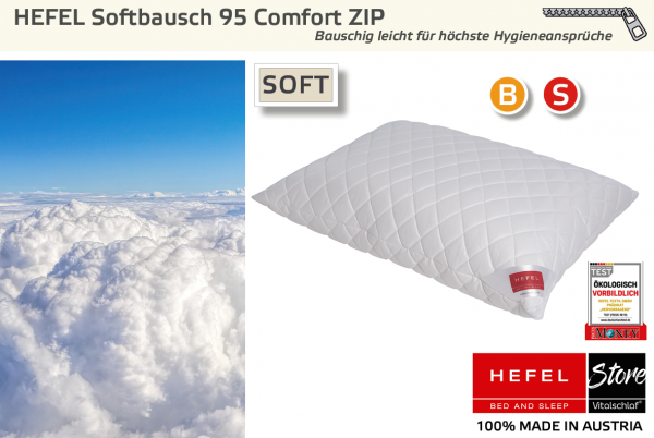 Softbausch 95 COMFORT - Strapazierfähig & Hygienisch - Zip