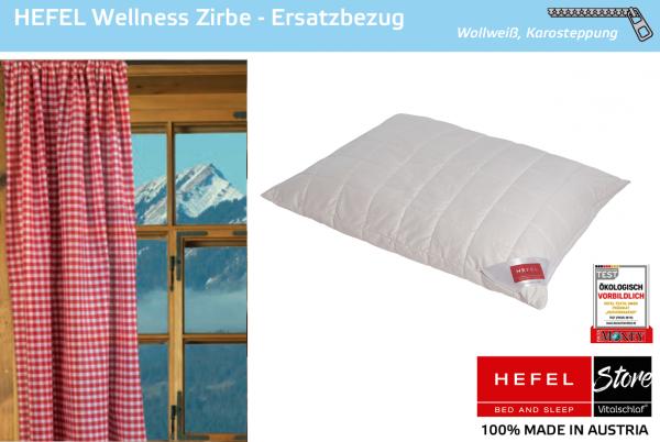 Hefel - Naturhaar - Wellness Zirbe Hülle - SCHAFWOLLE & ZIRBE - Größe: 40x40 Reißverschluß: Ja ; Füllgewicht : - ; Füllgewicht 2 : n.v.. Hefel Bio-Bettwaren, Decken, Polster, Unterbetten und Bettwäsche von Vitalschlaf: Ihre individuelle & vitale Schlafwe
