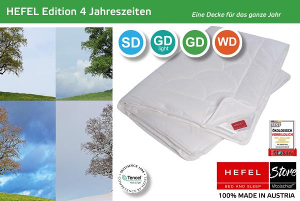 Hefel - Edition 101 - Naturfaser. Winter: 4 Jahreszeiten - Single. Hefel Bio-Bettwaren, Decken, Polster, Unterbetten und Bettwäsche von Vitalschlaf: Ihre individuelle & vitale Schlafwelt aus Österreich.