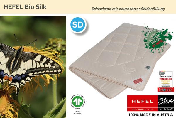 Hefel - Bio Silk - Naturfaser. Sommer: Sommer - Single. Hefel Bio-Bettwaren, Decken, Polster, Unterbetten und Bettwäsche von Vitalschlaf: Ihre individuelle & vitale Schlafwelt aus Österreich.