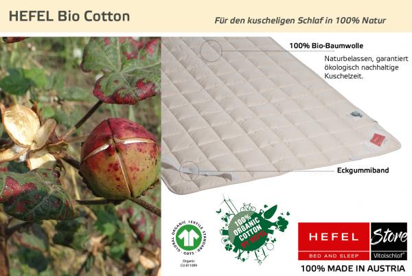 Hefel - Naturfaser - Bio Cotton - BIO BAUMWOLLE - Größe: 200x200 Artikel: Unterbett ; Füllmenge 1 : 2000 ; Füllmenge 2 : n.v.. Hefel Bio-Bettwaren, Decken, Polster, Unterbetten und Bettwäsche von Vitalschlaf: Ihre individuelle & vitale Schlafwelt aus Öst