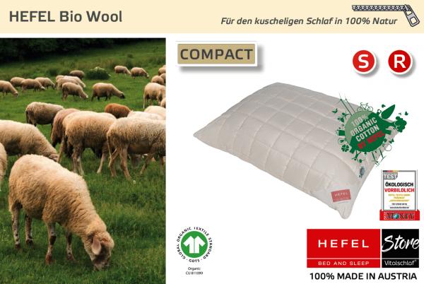Hefel - Naturhaar - Bio Wool - BIO SCHAFWOLLE - Größe: 40x40 Reißverschluß: Ja ; Füllgewicht : 280 ; Füllgewicht 2 : n.v.. Hefel Bio-Bettwaren, Decken, Polster, Unterbetten und Bettwäsche von Vitalschlaf: Ihre individuelle & vitale Schlafwelt aus Österre