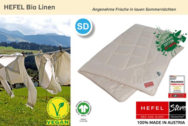 Hefel - Bio Linen - Naturfaser. Winter: Sommer - Single. Hefel Bio-Bettwaren, Decken, Polster, Unterbetten und Bettwäsche von Vitalschlaf: Ihre individuelle & vitale Schlafwelt aus Österreich.