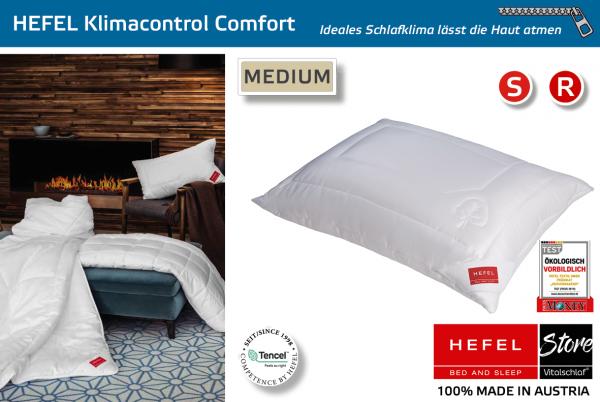 Hefel - Naturfaser - Klimacontrol Comfort - TENCEL & PES - Größe: 40x40 Reißverschluß: Ja ; Füllgewicht : 270 ; Füllgewicht 2 : n.v.. Hefel Bio-Bettwaren, Decken, Polster, Unterbetten und Bettwäsche von Vitalschlaf: Ihre individuelle & vitale Schlafwelt