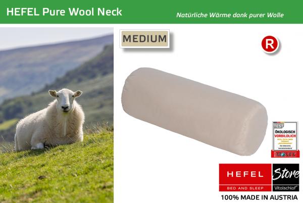 Hefel - Naturhaar - Pure Wool Neck - SCHAFWOLLE - Größe: 15x40 Reißverschluß: Nein ; Füllgewicht : 400 ; Füllgewicht 2 : n.v.. Hefel Bio-Bettwaren, Decken, Polster, Unterbetten und Bettwäsche von Vitalschlaf: Ihre individuelle & vitale Schlafwelt aus Öst