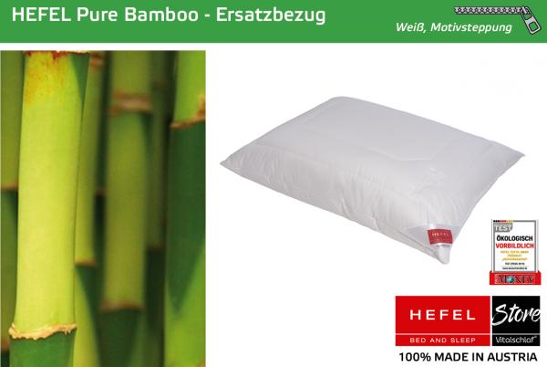 Hefel - Naturfaser - Pure Bamboo Hülle - BAMBUS & MAIS & PES - Größe: 40x40 Reißverschluß: Ja ; Füllgewicht : - ; Füllgewicht 2 : n.v.. Hefel Bio-Bettwaren, Decken, Polster, Unterbetten und Bettwäsche von Vitalschlaf: Ihre individuelle & vitale Schlafwel