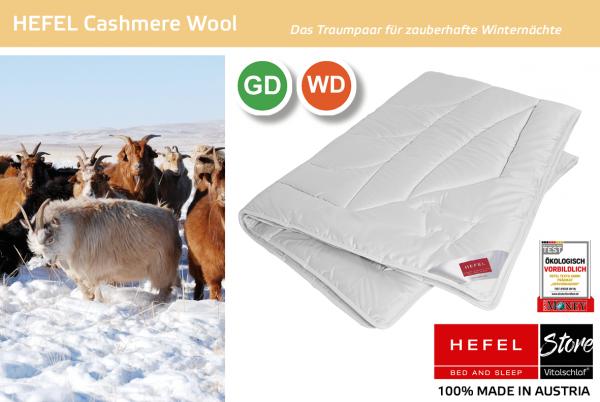 Hefel - Chashmere Wool - Naturhaar. Winter: Ganzjahres - Single. Hefel Bio-Bettwaren, Decken, Polster, Unterbetten und Bettwäsche von Vitalschlaf: Ihre individuelle & vitale Schlafwelt aus Österreich.