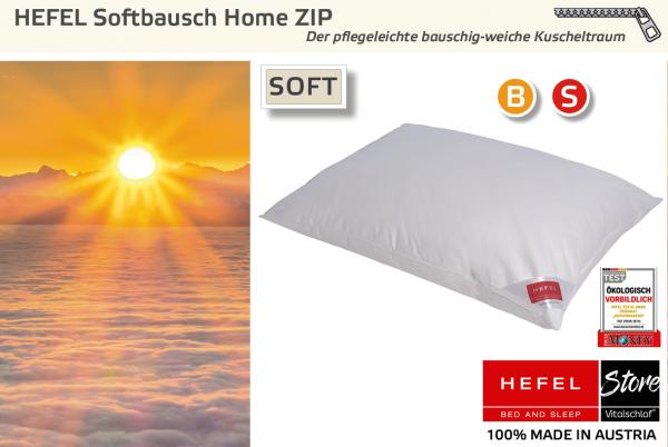 Hefel - Funktionsfaser - Softbausch Home Zip - PES - Größe: 40x40 Reißverschluß: Ja ; Füllgewicht : 200 ; Füllgewicht 2 : n.v.. Hefel Bio-Bettwaren, Decken, Polster, Unterbetten und Bettwäsche von Vitalschlaf: Ihre individuelle & vitale Schlafwelt aus Ös