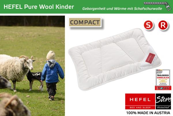 Hefel - Naturhaar - Pure Wool Kinderkissen - SCHAFWOLLE - Größe: 35x40 Reißverschluß: Nein ; Füllgewicht : 60 ; Füllgewicht 2 : n.v.. Hefel Bio-Bettwaren, Decken, Polster, Unterbetten und Bettwäsche von Vitalschlaf: Ihre individuelle & vitale Schlafwelt
