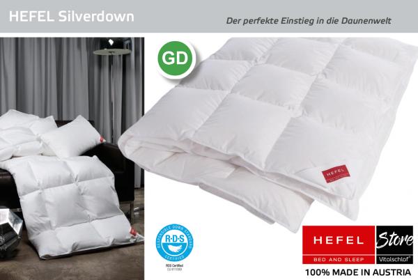 Hefel - Silver Down - Daune. Ganzjahres: Ganzjahres - Single. Hefel Bio-Bettwaren, Decken, Polster, Unterbetten und Bettwäsche von Vitalschlaf: Ihre individuelle & vitale Schlafwelt aus Österreich.