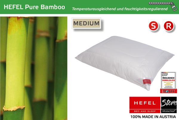 Hefel - Naturfaser - Pure Bamboo - BAMBUS & MAIS & PES - Größe: 40x40 Reißverschluß: Ja ; Füllgewicht : 270 ; Füllgewicht 2 : n.v.. Hefel Bio-Bettwaren, Decken, Polster, Unterbetten und Bettwäsche von Vitalschlaf: Ihre individuelle & vitale Schlafwelt au