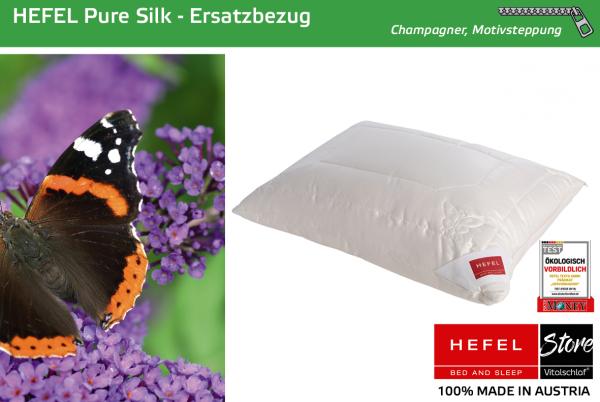 Hefel - Naturfaser - Pure Silk Hülle - WILDSEIDE & PES - Größe: 40x40 Reißverschluß: Ja ; Füllgewicht : - ; Füllgewicht 2 : n.v.. Hefel Bio-Bettwaren, Decken, Polster, Unterbetten und Bettwäsche von Vitalschlaf: Ihre individuelle & vitale Schlafwelt aus