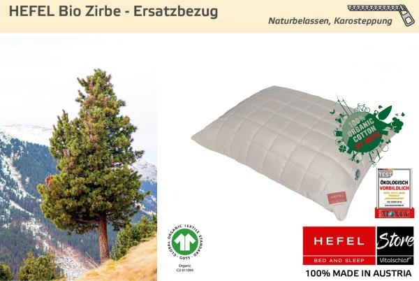 Hefel - Naturhaar - Bio Zirbe Hülle - BIO SCHAFWOLLE - Größe: 40x40 Reißverschluß: Ja ; Füllgewicht : - ; Füllgewicht 2 : n.v.. Hefel Bio-Bettwaren, Decken, Polster, Unterbetten und Bettwäsche von Vitalschlaf: Ihre individuelle & vitale Schlafwelt aus Ös